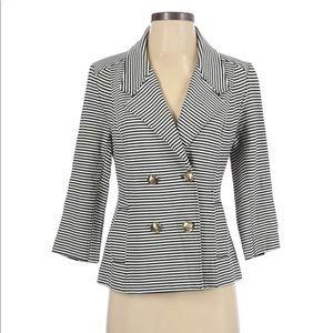 CAbi blue & white button up blazer size small